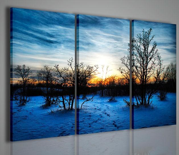 Quadri moderni quadri natura e paesaggi winter scenary iii for Stampe quadri astratti