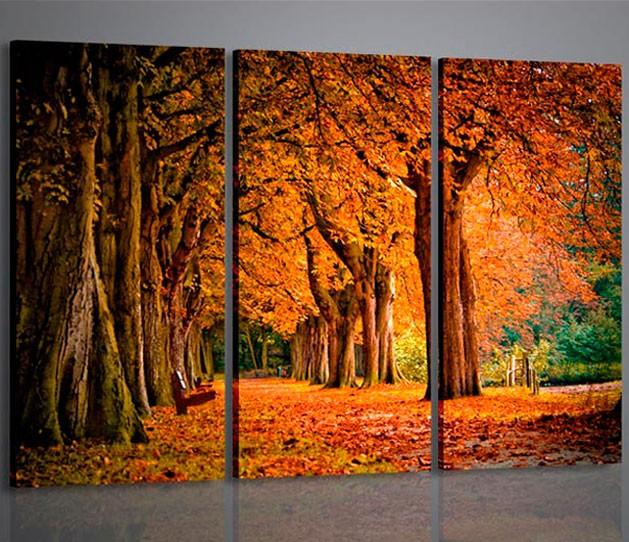 Quadri moderni quadri natura e paesaggi color of autumn for Quadri per soggiorni moderni