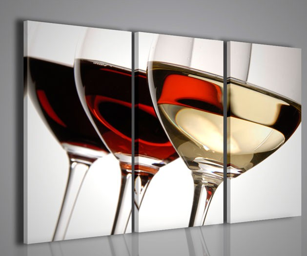 Quadri Da Ufficio : Quadri moderni quadri food drink tris wine color artcanvas