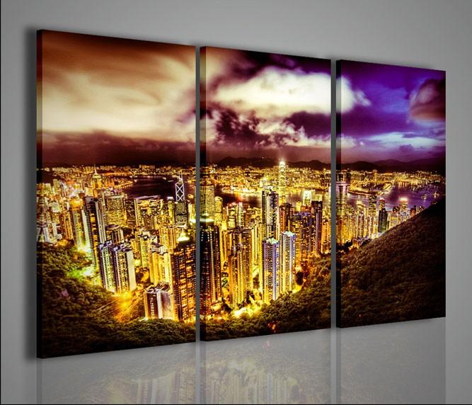 Quadri moderni quadri citt night city artcanvas2011 for Stampe arredamento moderno