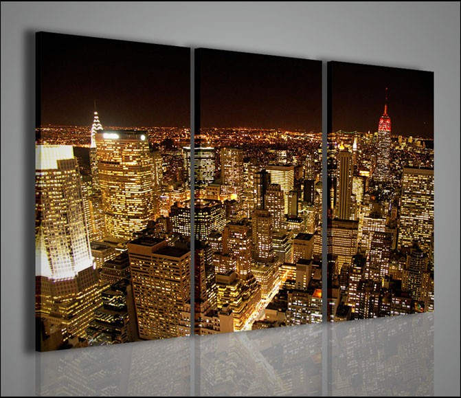 Quadri moderni quadri citt new york lighting artcanvas2011 for Soggiorno new york