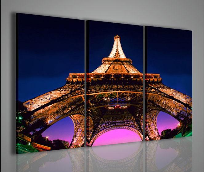 Quadri moderni quadri citt paris tour eiffel artcanvas2011 for La citta con il museo van gogh