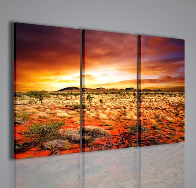 Quadri moderni quadri natura e paesaggi orange dune for Quadri moderni per arredamento soggiorno