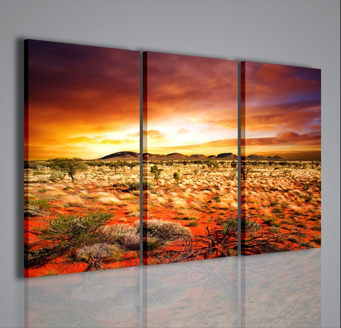 Quadri moderni quadri natura e paesaggi orange dune for Stampe arredo casa