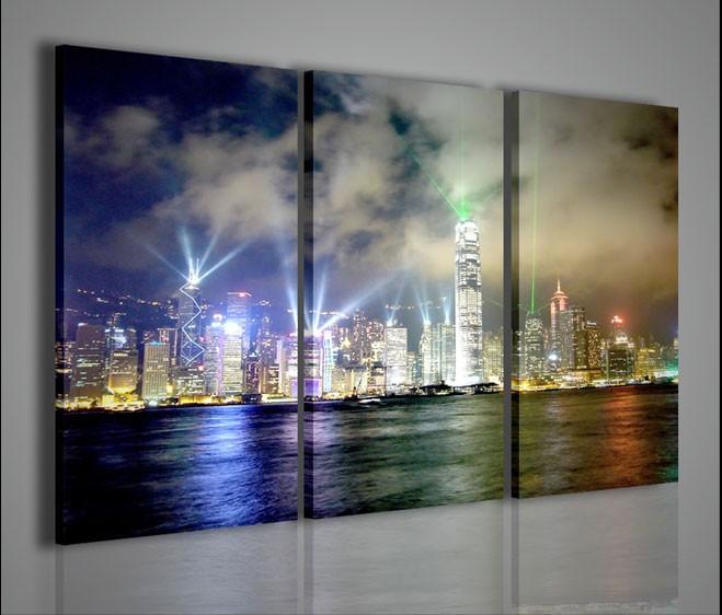 Quadri moderni quadri citt city bright lights artcanvas2011 - Quadri da parete moderni ...