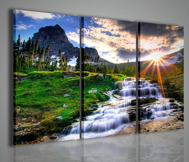 Quadri moderni quadri natura e paesaggi waterfall iii for Quadri da arredamento moderno