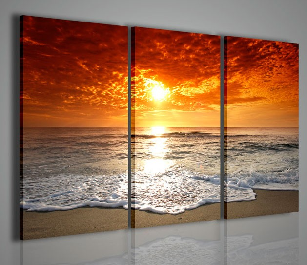 Quadri moderni quadri natura e paesaggi red sun - Quadri arredamento casa ...