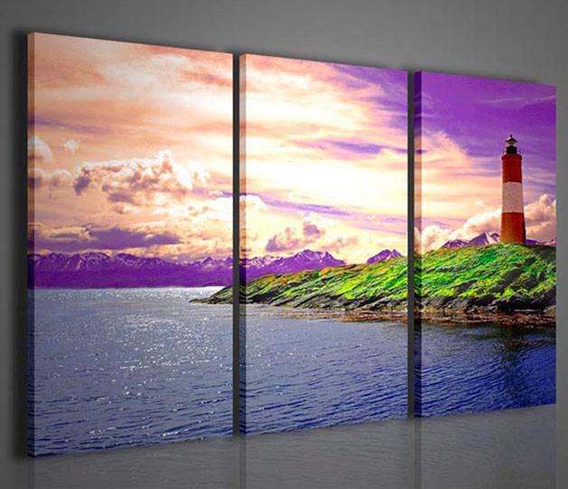 Quadri moderni quadri natura e paesaggi lightning for Arredamento natura