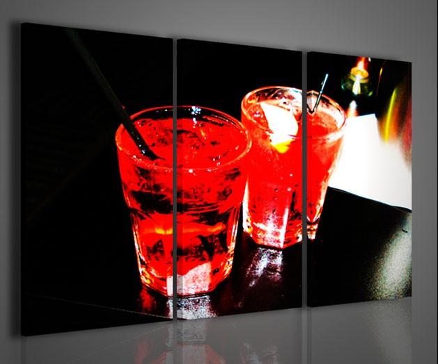 Quadri moderni quadri food & drink red alcool drink artcanvas2011
