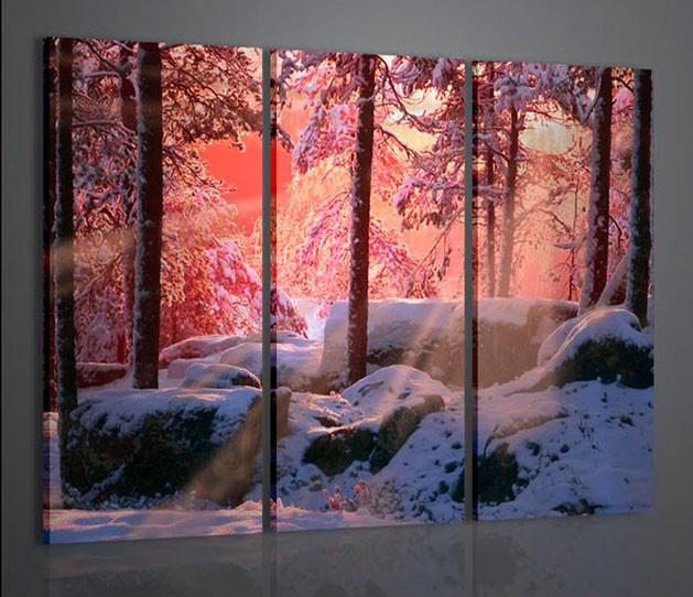 Quadri moderni quadri natura e paesaggi winter landscape i for Quadri moderni materici