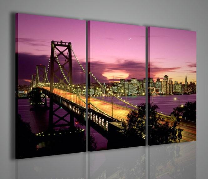 Quadri moderni quadri citt new york bridge 6 artcanvas2011 for Stampe arredamento moderno