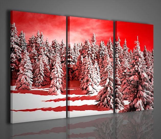 Quadri moderni quadri natura e paesaggi snow forest - Quadri da parete moderni ...