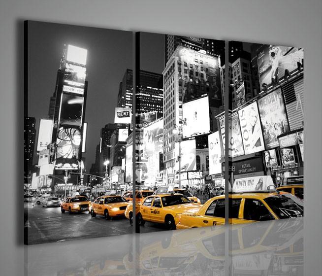 Quadri Moderni-Quadri Città-New York Taxi in Times Square ...