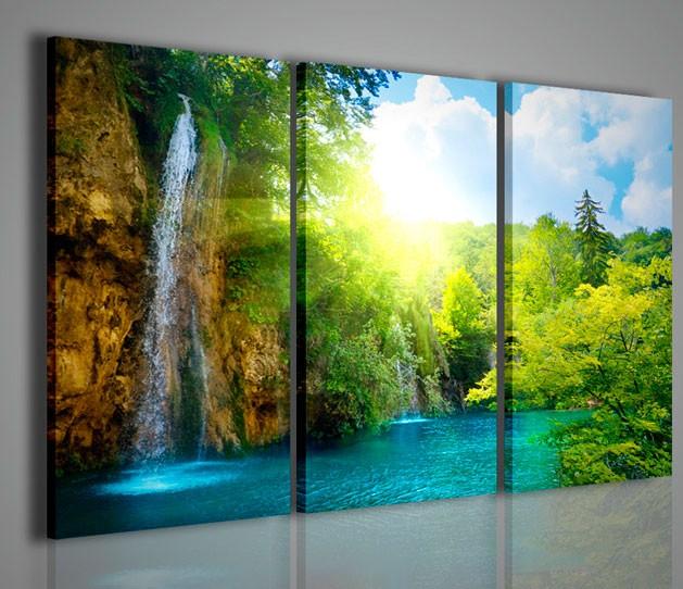 Quadri moderni quadri natura e paesaggi waterfall i for Stampe arredo casa