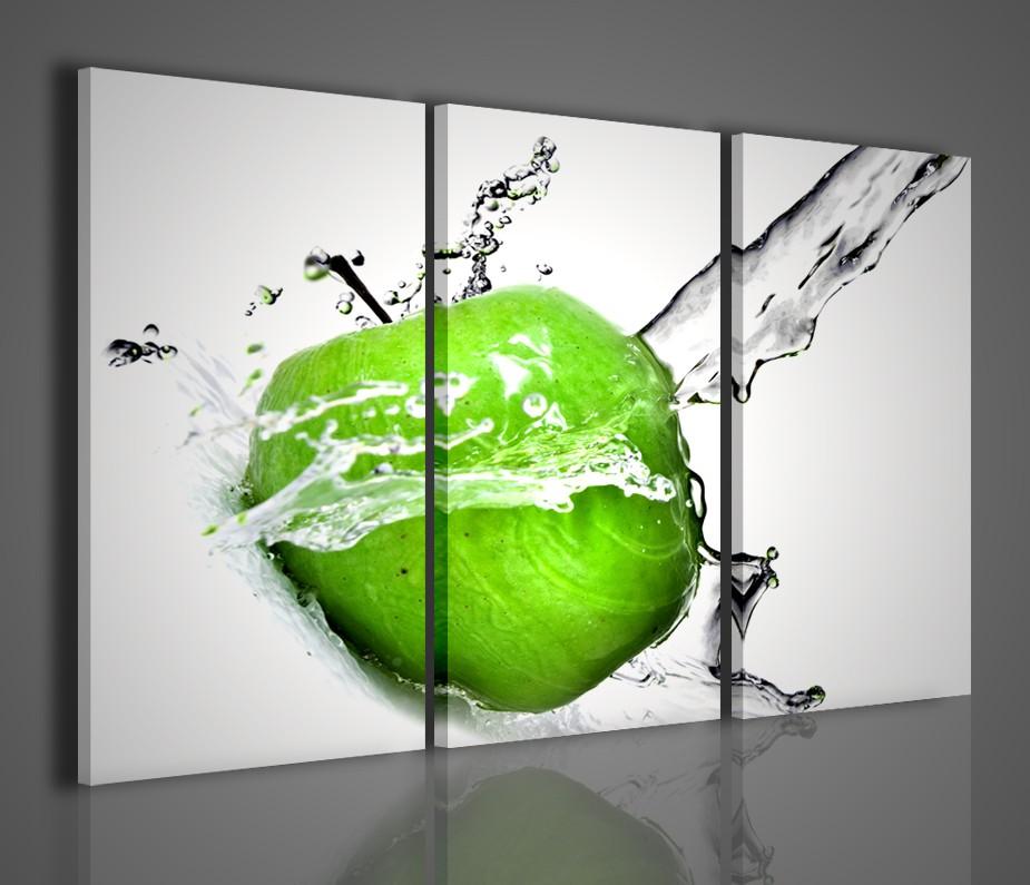 Quadri moderni per arredamento quadro moderno apple green arredamento bar casa ufficio - Quadri per casa moderna ...