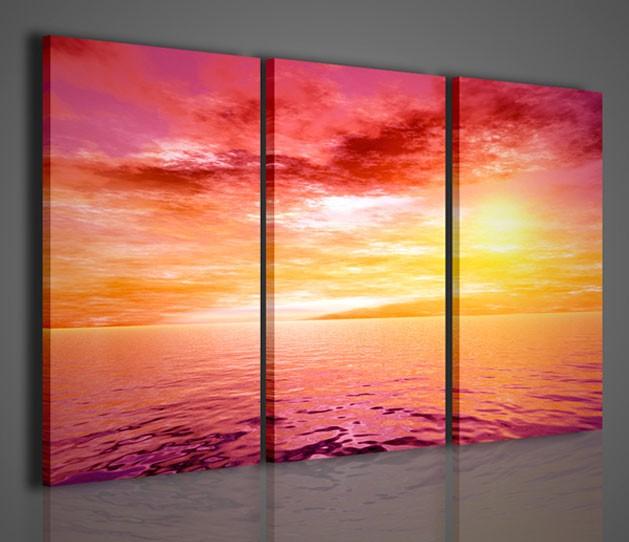 Quadri moderni quadri natura e paesaggi tropical sunset for Quadri moderni colorati