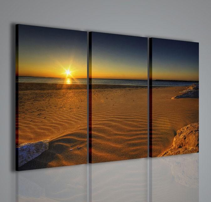 Quadri moderni quadri natura e paesaggi sunset on the for Stampe arredamento moderno