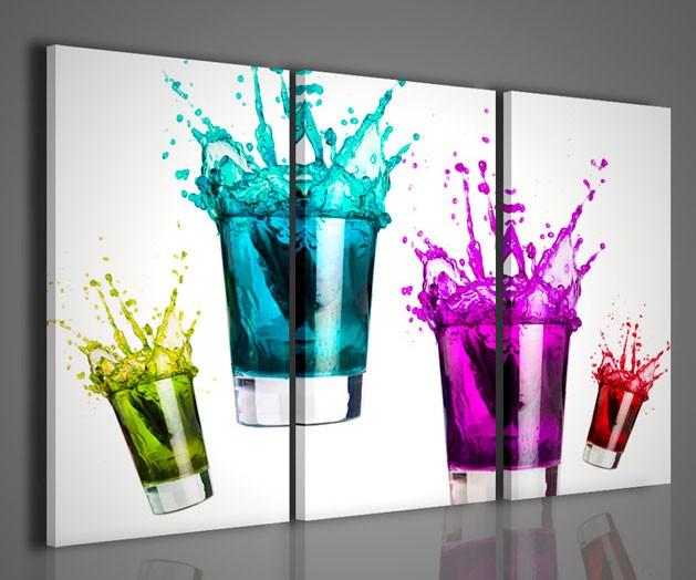 quadri moderni-quadri food & drink-cocktail mixed color ii ... - Soggiorno Pareti Colorate 2