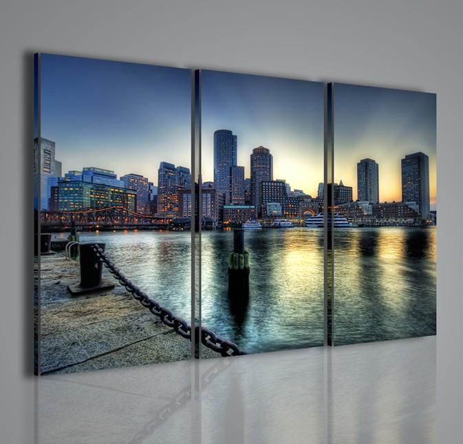 Quadri moderni quadri citt boston city ii artcanvas2011 for La citta con il museo van gogh