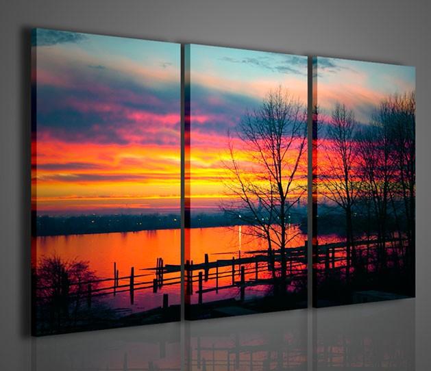Quadri moderni quadri natura e paesaggi coquitalm sunset for Stampe quadri astratti