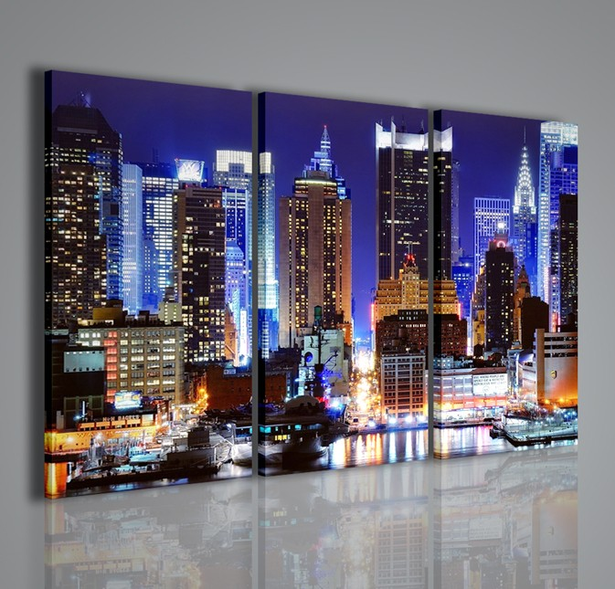 Quadri Moderni-Quadri Città-New York Lighting | artcanvas2011