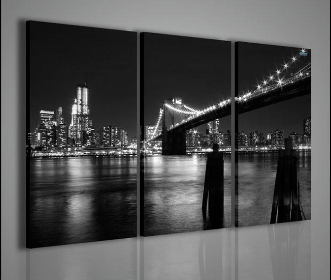 Quadri moderni quadri citt new york black and white 1 - Quadro moderno camera da letto ...