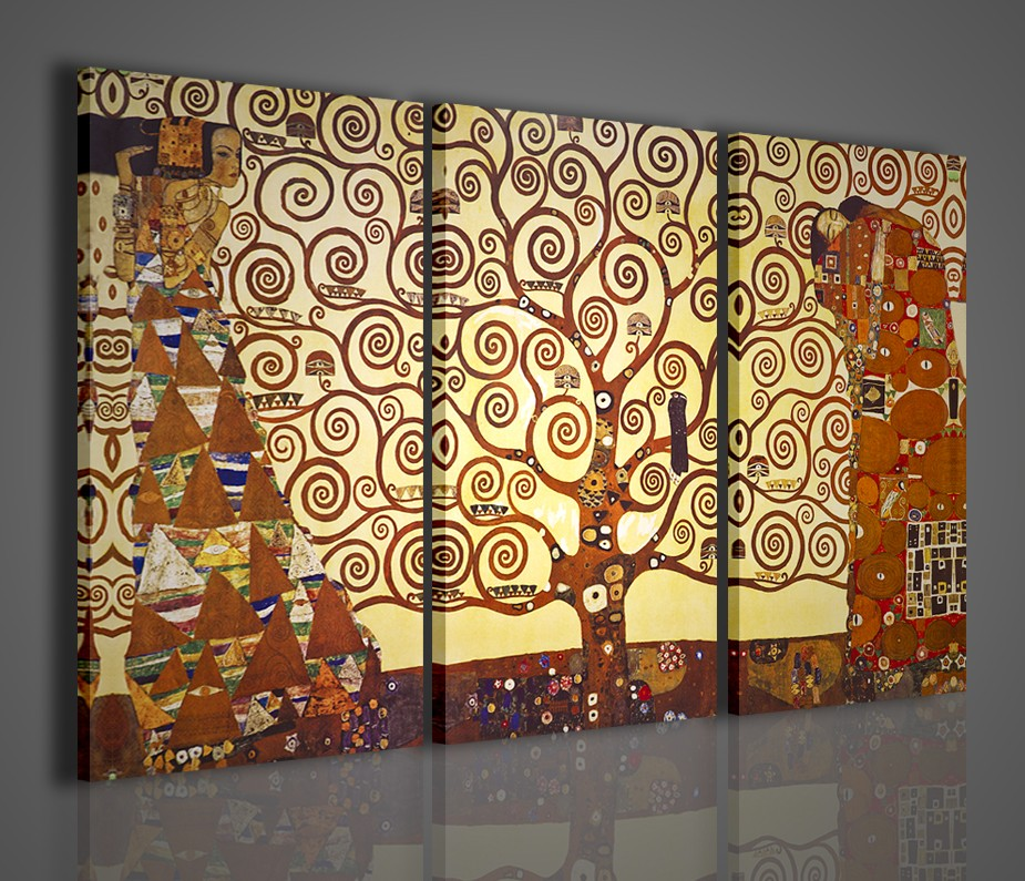 Quadri modernu su tela gustav klimt l albero della vita for Stampe arredamento moderno