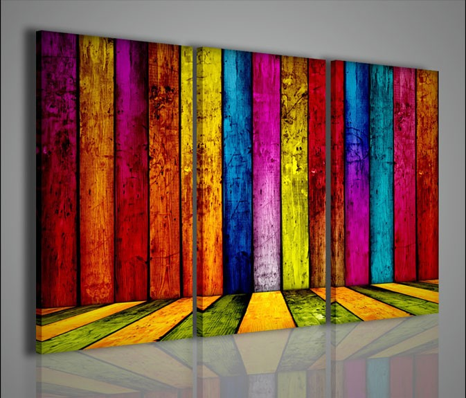 Quadri moderni quadri alternativi multicolored woods for Stampe quadri astratti