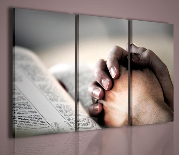 QUADRI MODERNI THE BIBLE QUADRO MODERNO RELIGIOSO BIBBIA ARREDAMENTO CASA