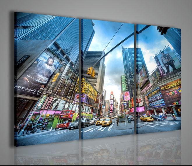 Quadri moderni quadri citt new york times square ii for La citta con il museo van gogh