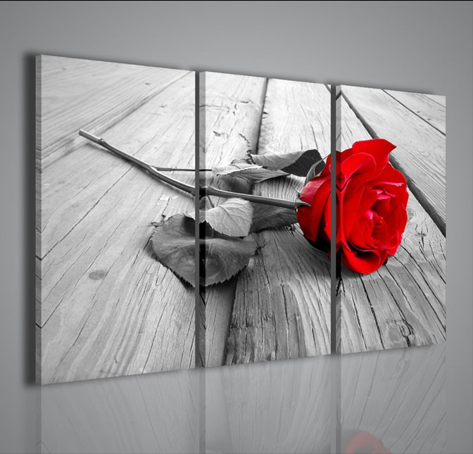 Quadri Moderni-Quadri Fiori e Piante-Red Rose Wood | artcanvas2011