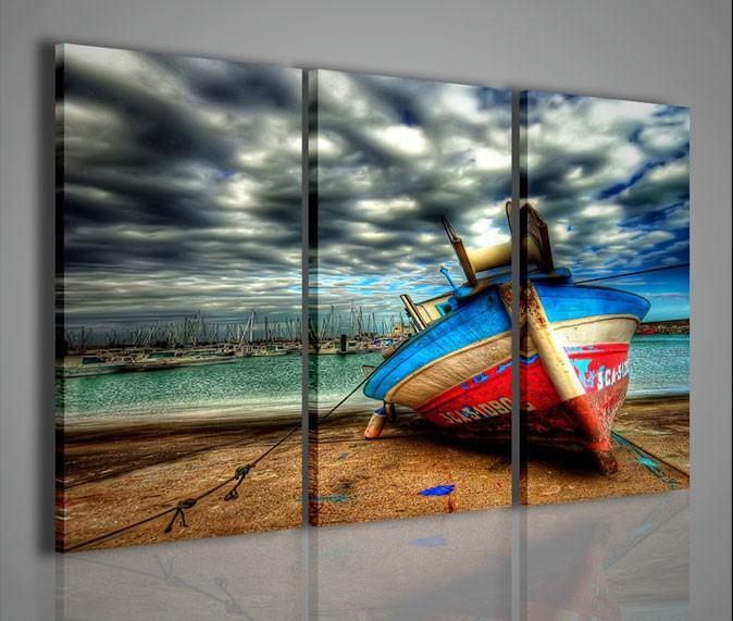 Quadri Moderni-Quadri Natura e Paesaggi-Fishing Boat | artcanvas2011