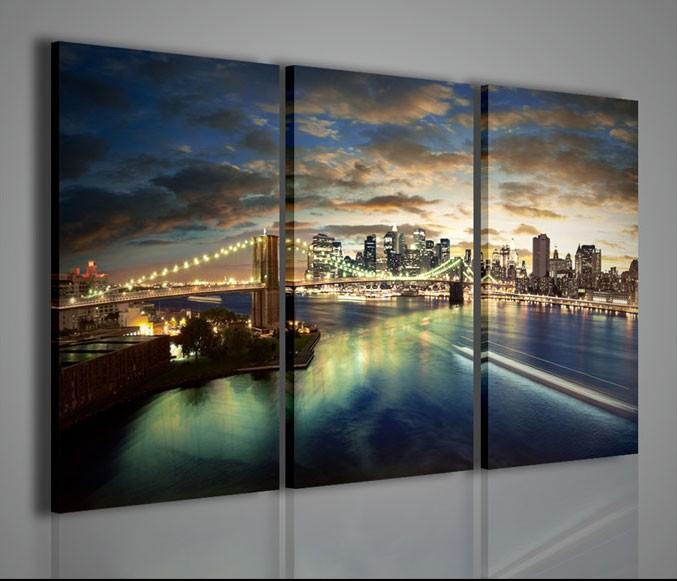 Quadri moderni quadri citt new york city bridge - Quadri da parete moderni ...