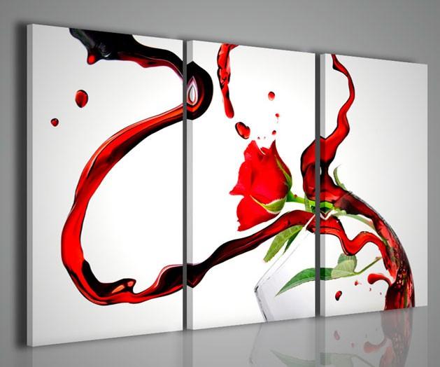 Quadri moderni quadri food drink rose wine artcanvas2011 for Arredamento moderno bar