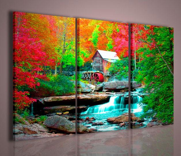 Quadri Moderni-Quadri Natura e Paesaggi-House in Forest | artcanvas2011